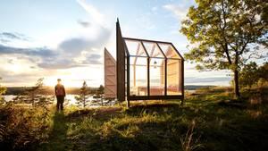 Nah an der Natur: Die transparenten Hütten stehen auf einer einsamen Insel in Westschweden und sind nur mit einer Bootsfahrt zu erreichen.