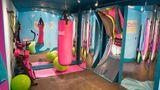 Ein nachgebautes Fitness-Studio