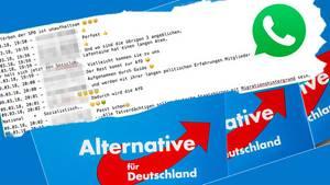 AfD-Whatsapp-Gruppe mit entlarvenden Posts