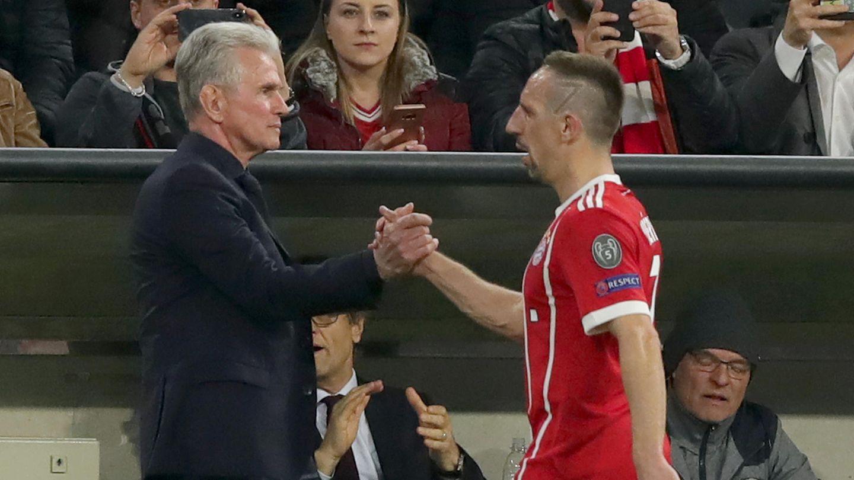 Franck Ribéry mit Bayern-Coach Jupp Heynckes