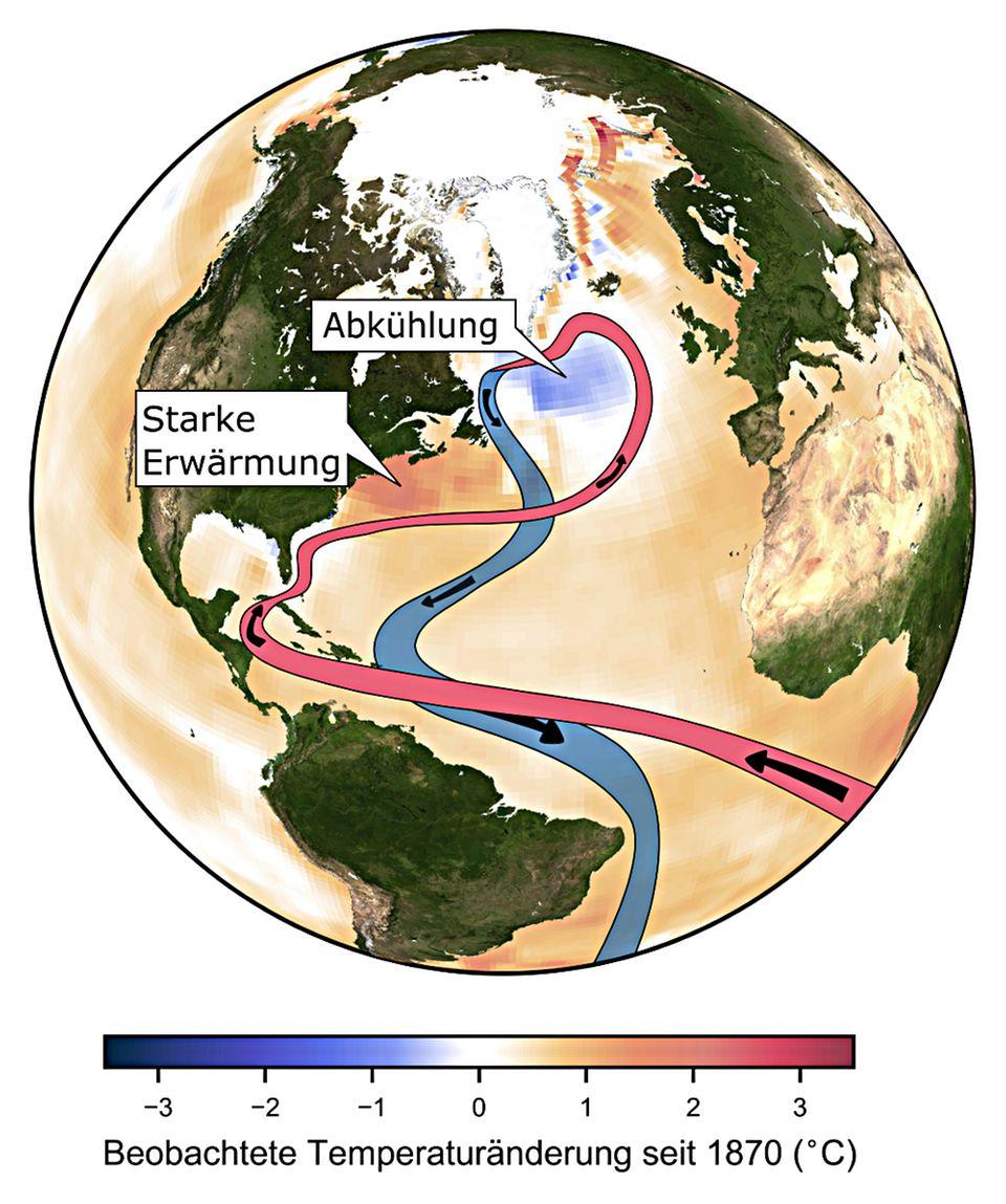 Forscher finden Belege: Die Wärmepumpe des Nordens stockt: Der Golfstrom schwächt sich ab