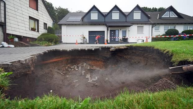 In Witten wurden 2014 Häuser evakuiert, weil der Krater immer weiter wuchs