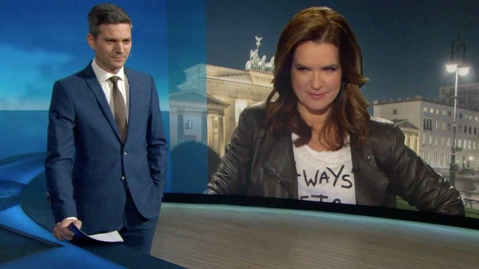 """Neue Folge von """"Verstehen Sie Spaß?"""": Hier nimmt Katarina Witt """"Tagesthemen""""-Moderator Ingo Zamperoni auf den Arm"""