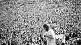 Menschen Menge beim Woodstock Festival