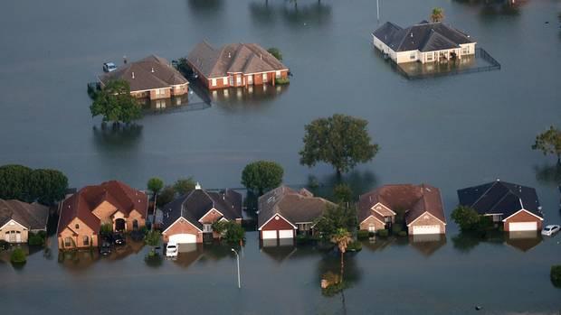 Überschwemmung in Texas nach einem Tropensturm