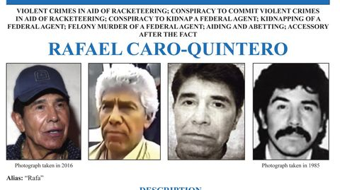 USA - Kopfgeld - FBI -  Drogenboss - Mexiko - Rafael Caro Quintero