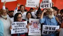 Indien: Die Menschen protestieren gegen die Gräueltaten gegen Frauen und fordern Gerechtigkeit