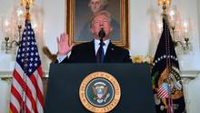 Donald Trump spricht im Diplomatic Reception Room