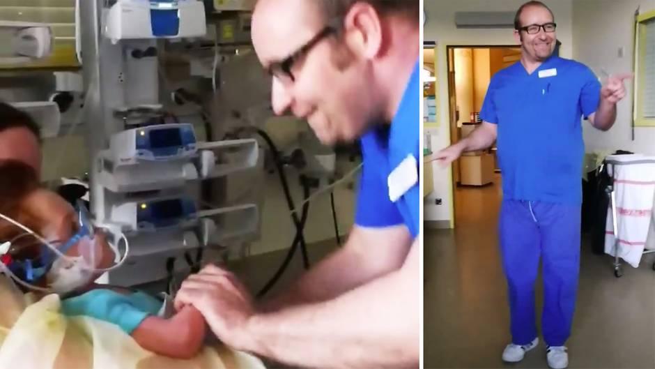 Herzerwärmende Einlage: Gerrit leidet an seltenem Gendefekt - sein Kinderarzt löst berührende Wette ein