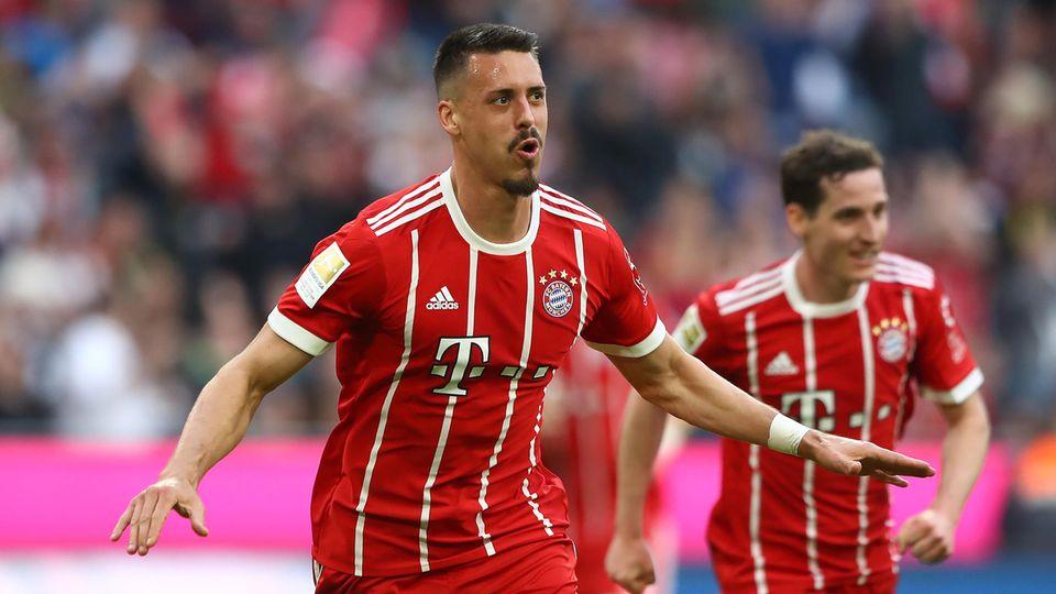 Sandro Wagner traf am 30. Spieltag der Fußball-Bundesliga gegen Borussia Mönchengladbach zwei Mal für den FC Bayern München