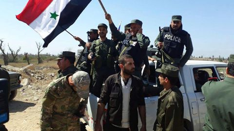 Sicherheitskräfte in Syrien
