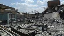 Trümmer des Forschungszentrums in Barsah