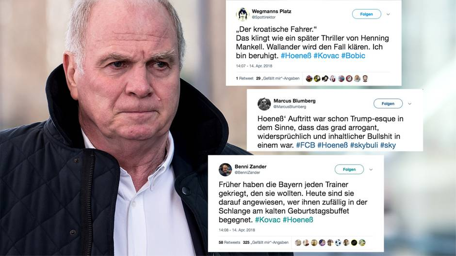 """Twitter-Reaktionen: Hoeneß-Attacke: Wie das Netz über Bayern und den """"kroatischen Fahrer"""" lacht"""