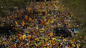 Protestmarsch von Anhängern der katalonischen Separatisten