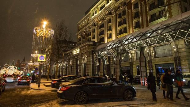 Das Ritz-Carlton-Hotels in Moskau: Laut dem Steele-Dossier hat sich Donald Trump hier mit Prostituierten vergnügt und ist dabei vom russischen Geheimdienst beobachtet worden