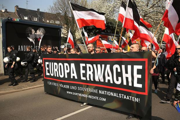 Rechte Demonstranten in Dortmund