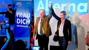 AfD-Politiker Alexander Galand und Alice Weidel
