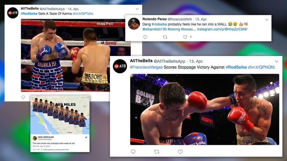 Provokantes Outfit: Mit Trump-Mauer-Shorts im Ring: US-Boxer wird von Mexikaner vermöbelt