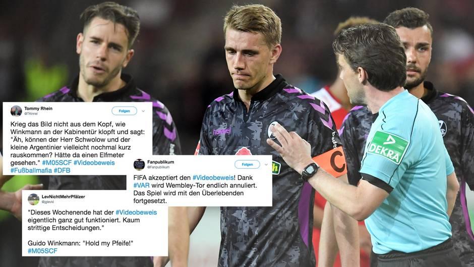 """Reaktionen auf kuriosen Pfiff: """"Wembley-Tor annulliert, Schalke doch Meister?"""" - Wie das Netz den Videobeweis zerlegt"""