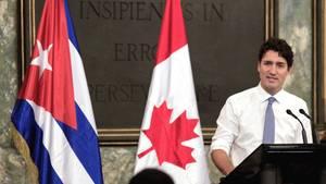 Kanadas Premierminister Justin Trudeau bei einer Rede in Kubas Hauptstadt Havana (Archivbild)