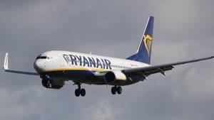 Eine Maschine der Airline Ryanair musste in Frankfurt notlanden