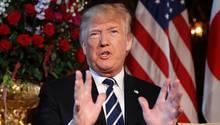 """Donald Trump hat die Razzia bei seinem Anwalt Michael Cohen als """"Angriff auf unser Land"""" bezeichnet"""