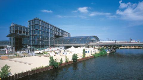 Der Hauptbahnhof in Berlin