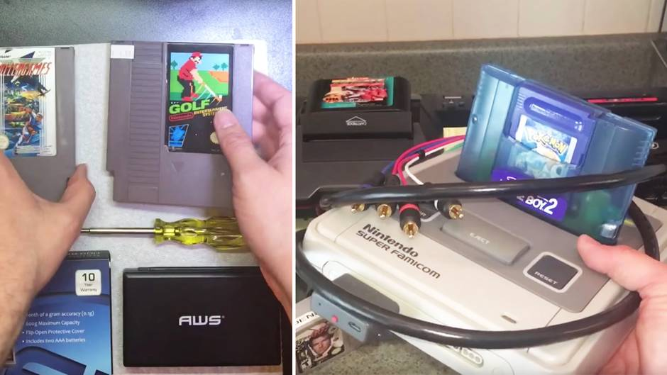 Ungewöhnlich schwere Module: Mann kauft alte Nintendo-Spiele auf Flohmarkt - und erlebt böse Überraschung