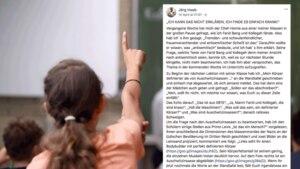 Eine Schülerin meldet sich im Klassenzimmer