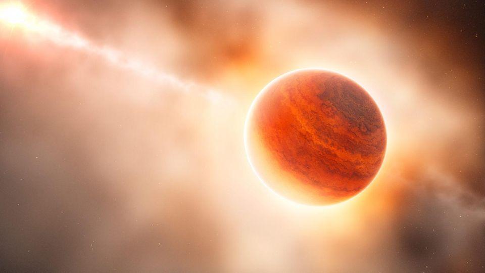 Diamanten auf Ur-Planet gefunden: Künstlerische Darstellung eines Planeten
