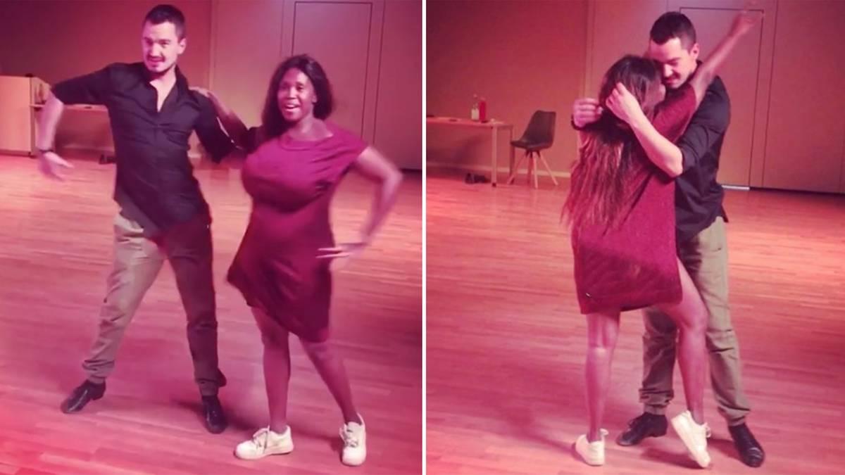 let 39 s dance jurorin motsi mabuse rockt das tanzparkett mit xl babykugel. Black Bedroom Furniture Sets. Home Design Ideas