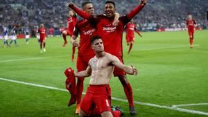 Eintracht Frankfurts Luka Jovic erzielte das einzige Tor des Tages