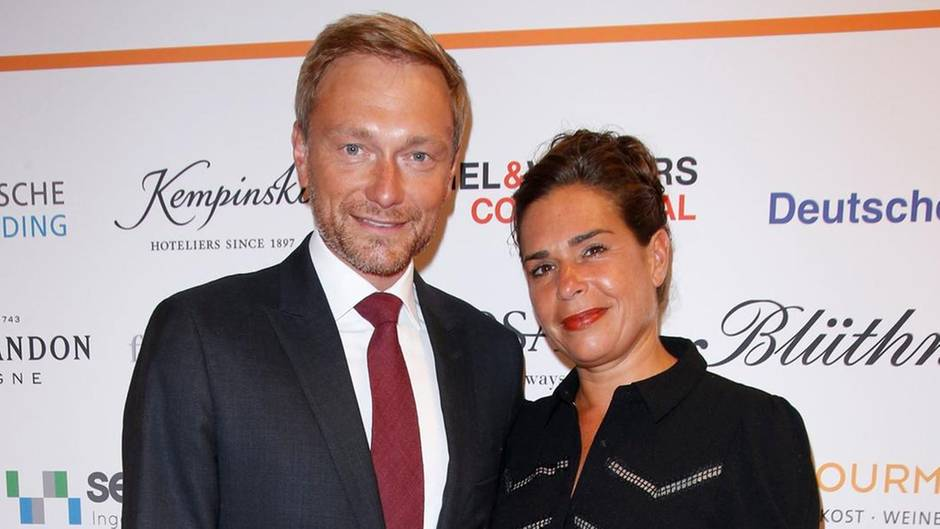 Christian Lindner und Ehefrau Dagmar Rosenfeld