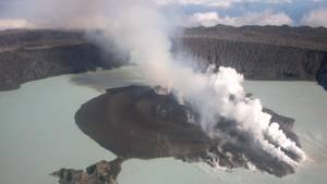 Der Vulkan Manaro Ende September letzten Jahres