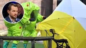 Spionage-Forscher Christopher Nehring und Ermittlungen am Skripal-Tatort in Salisbury