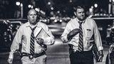 Einsatz: Mord. In der Nacht untersuchen Detectives den Ort einer Schießerei, ein Mann starb