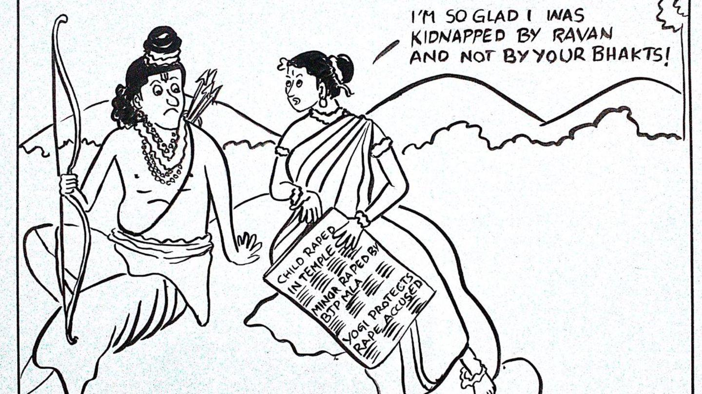 Die Karikatur der Journalistin Swathi Vadlamudi löst in Indien eine kontroverse Debatte aus
