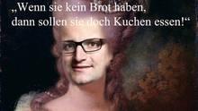 14. 3. 2018, 8.22 Uhr: CDU-Mann Spahn hat mit Äußerungen über Armut provoziert. Das bringt ihn in den Chat, montiert in ein Gemälde der französischen Königin Marie-Antoinette