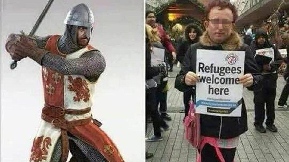 """3. 3. 2018, 20 Uhr: Zur """"Tagesschau""""-Zeit die Botschaft, dass früher vieles besser war. Zumindest trug der Mann Rüstung statt rosa Schühchen und begrüßte keine Flüchtlinge"""