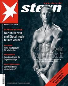 Muskelspiel: Nackt zierte die Olympia-Hoffnung Tim Lobinger im Jahr 2000 das stern-Titelbild