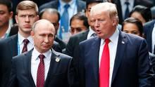 Wladimir Putin und Donald Trump: offenbar gab es ein Gespräch über Prostituierte
