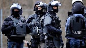 Mitglieder eines Spezialeinsatzkommandos in Köln (Archivbild)