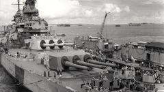 Die USS Iowa wurde im Zweiten Weltkrieg in Dienst gestellt.