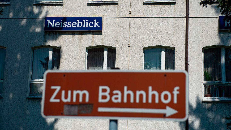 """Im Hotel """"Neisseblick"""" sowie auf dem angrenzenden Grundstück findet das Rechtsrock-Festival statt"""