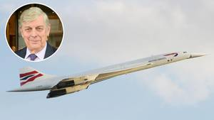 """Das Überschallflugzeug Concorde war bei British Airways von 1976 bis 2003 im Einsatz. Fred Finn ist 718 Mal mit diesem Flugzeugtyp geflogen und landete damit im """"Guinness-Buch der Rekorde""""."""