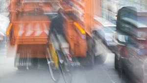 Eine Müllabfuhr in Berlin