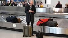 Am Gepäckband nach der Landung