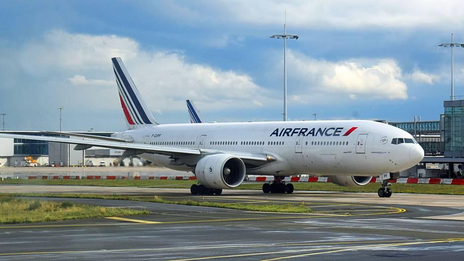 Eine Langstreckenmaschine von Air France: eine Boeing 777 (Symbolfoto)