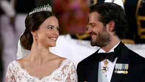 Sofia und Carl Philip von Schweden bei ihrer Hochzeit am 13. Juni 2015