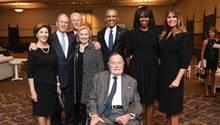 Beisetzung von Barbara Bush - ohne US-Präsident Donald Trump